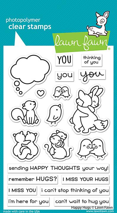 """Lawn Fawn Clear Stamps 4\""""X6\"""" - Happy Hugs"""