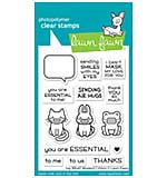"""Lawn Fawn Clear Stamps 3""""X4"""" - Say What? Masked Critters"""
