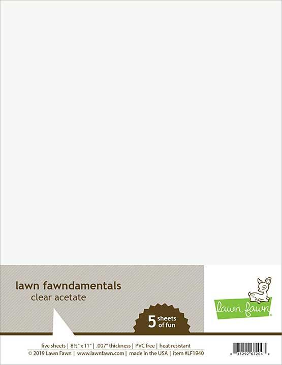 Lawn Fawndamentals Acetate - Clear (8.5x11 5pk)