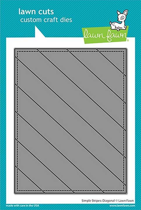 Lawn Cuts Custom Craft Die - Simple Stripes Diagonal