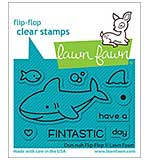 Lawn Fawn Clear Stamps - Duh-Nuh Flip-Flop (3x2)
