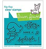 Lawn Fawn Clear Stamps - Mermaid For You Flip-Flop (3x2)