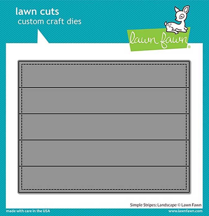Lawn Cuts Custom Craft Die - Simple Stripes Landscape