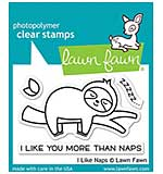 Lawn Fawn Clear Stamps - I Like Naps (3x2)
