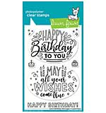 Lawn Fawn Clear Stamps - Giant Birthday Messages (4x6)