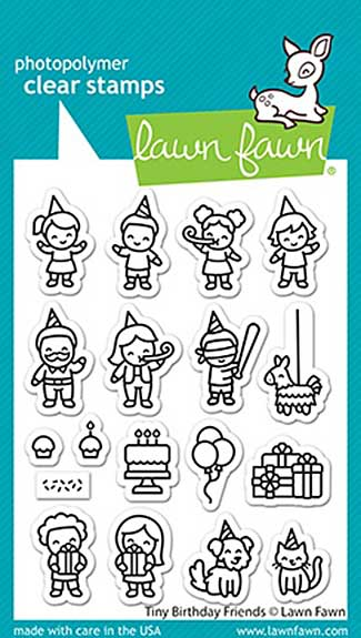 Lawn Fawn Clear Stamps - Tiny Birthday Friends (3x4)