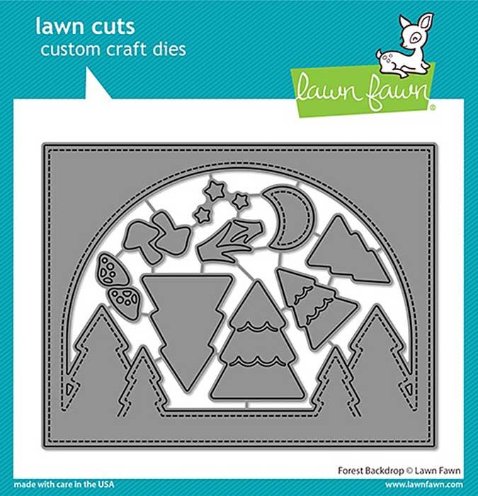 Lawn Cuts Custom Craft Die - Forest Backdrop