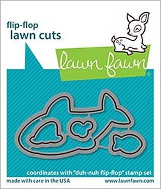 Lawn Cuts Custom Craft Die - Duh-Nuh Flip-Flop