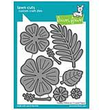 SO: Lawn Cuts Custom Craft Die - Happy Hibiscus