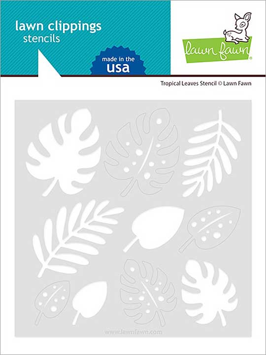 SO: Lawn Clippings Stencils - Tropical Leaves