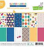 Lawn Fawn Single-Sided Petite Paper Pack 6x6 36pk - Sweater Weather Remix, 12 Designs