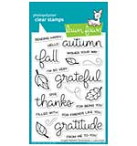SO: Lawn Fawn Clear Stamps - Scripty Autumn Sentiments (4x6)