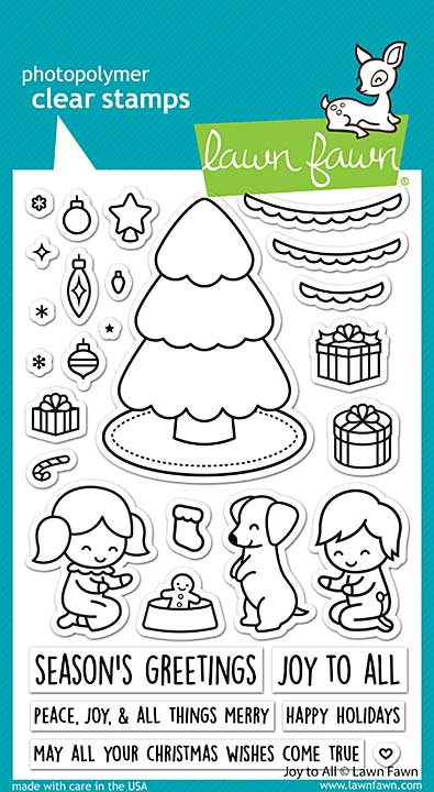 Lawn Fawn Clear Stamps - Joy To All (4x6)