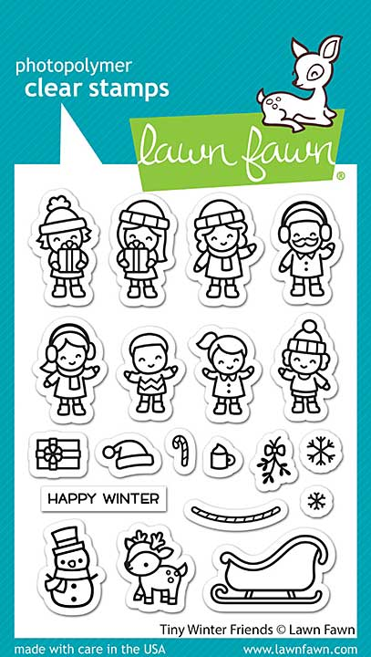 Lawn Fawn Clear Stamps - Tiny Winter Friends (3x4)
