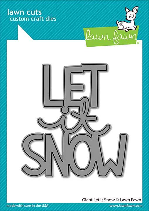 SO: Lawn Cuts Custom Craft Die - Giant Let It Snow