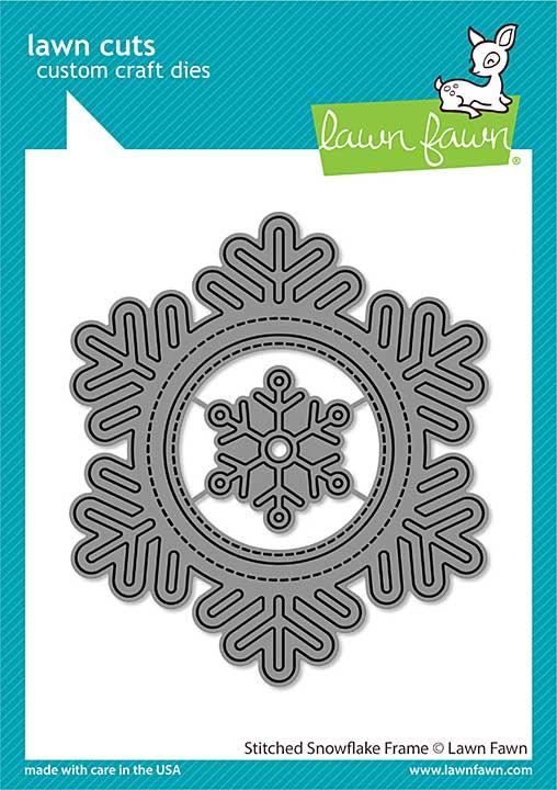 SO: Lawn Cuts Custom Craft Die - Stitched Snowflake Frame