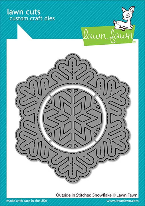 SO: Lawn Cuts Custom Craft Die - Outside In Stitched Snowflake