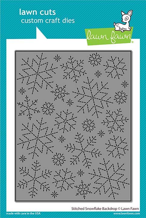 SO: Lawn Cuts Custom Craft Die - Stitched Snowflake Backdrop