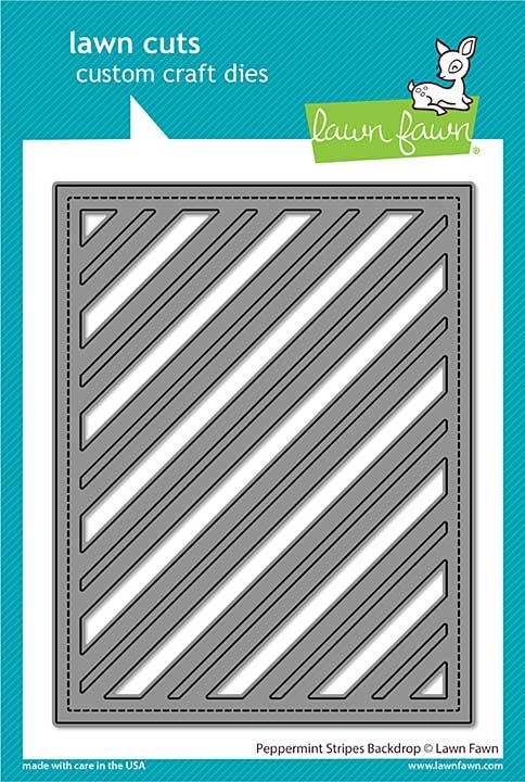 Lawn Cuts Custom Craft Die - Peppermint Stripes Backdrop