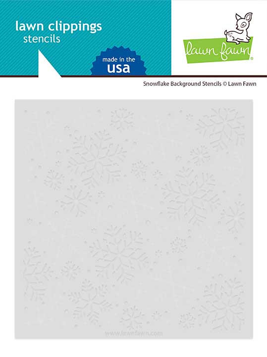 SO: Lawn Clippings Stencils - Snowflake Background