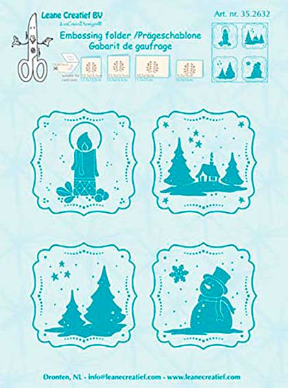 SO: Leane Creatief Embossing Folder - Winter Frames