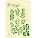 Leane Creatief Cutting Die - Holly Leaves Pine Branches