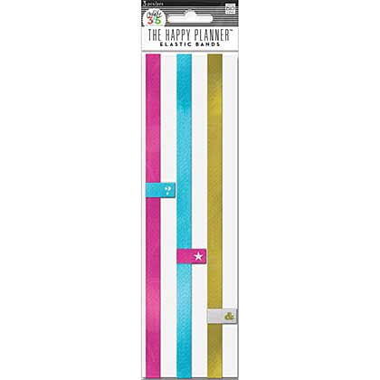 SO: Create 365 Happy Planner Elastic Bands 3 pack - Pink, Gold, Teal