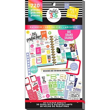 Happy Planner Sticker Value Pack - Rainbow - Big, 720pcs