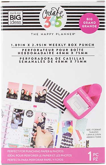 Happy Planner Weekly Box Punch - BIG  (1.89 in x 2.95 in)