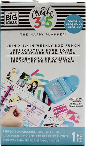 Happy Planner Weekly Box Punch - CLASSIC  (1.5 in x 2.4 in)