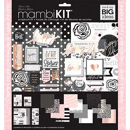 Me & My Big Ideas Page Kit - Black, White & Rose (12x12)