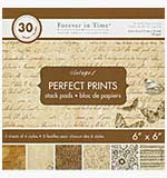 SO: Perfect Prints - Forever in Time Paper Pad - Vintage #1 (6x6 30 Assorted Sheets)