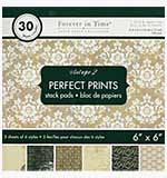 Perfect Prints - Forever in Time Paper Pad - Vintage #2 (6x6 30 Assorted Sheets)