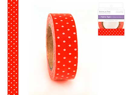 SO: Forever in Time - Fabric Tape - Red Dots