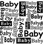 Nellie Snellen Text Embossing Folder - Baby