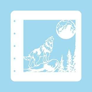 SO: Nellie Snellen Christmas Time A6 Stencil - Wolf