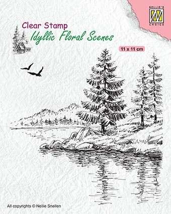 SO: Nellie Snellen Clear Stamp Idyllic Floral Scenes - Winter Water\'s Edge