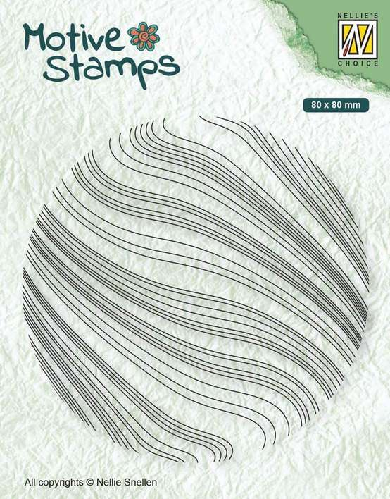 Nellie Snellen Motive Clear Stamps - Waves