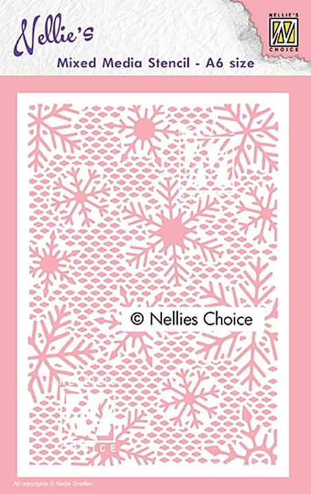 SO: Nellie Snellen Mixed Media Stencil A6 - Small Snowflakes
