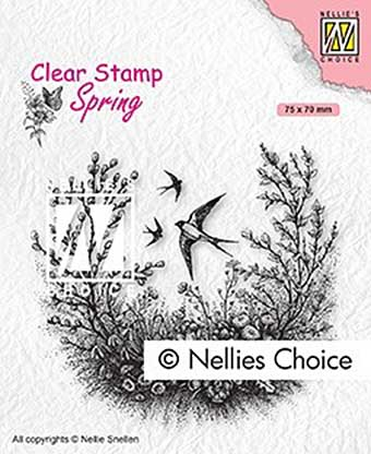 Nellie Snellen Clear Stamps Spring - Spring is in the air