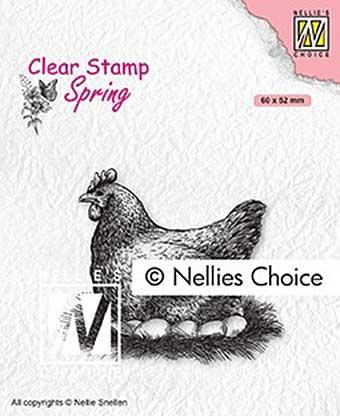 Nellie Snellen Clear Stamps Spring - Mother Hen