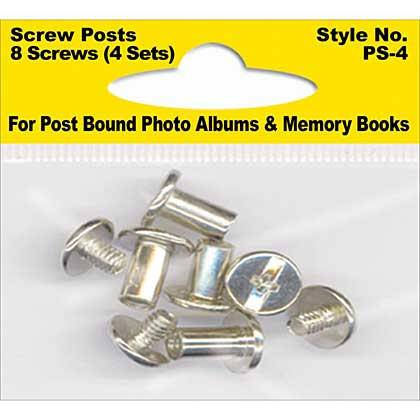 Pioneer Screw Post Extenders - Male and Female End Posts for Albums (4pk)