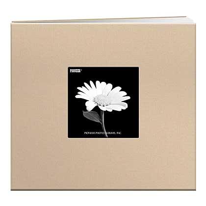 SO: Pioneer Album - Postbound Frame Cover Memory Book, 8x8, Biscotti Beige