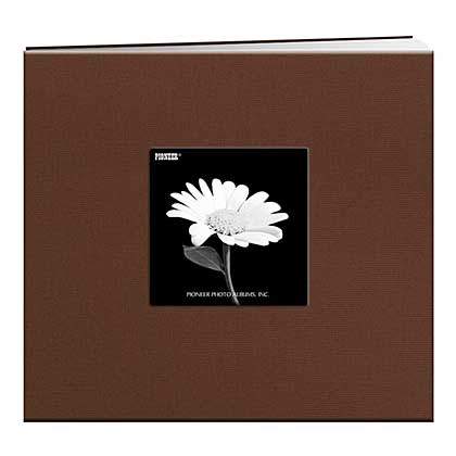 SO: Pioneer Album - Postbound Frame Cover Memory Book, 8x8, Chocolate Brown