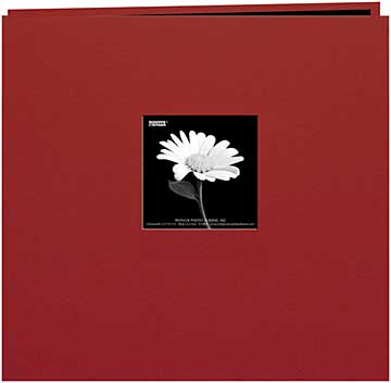 Pioneer Book Cloth Cover Post Bound Album 8x8 - Burgundy