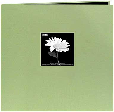 SO: Pioneer Book Cloth Cover Post Bound Album 8x8 - Sage Green
