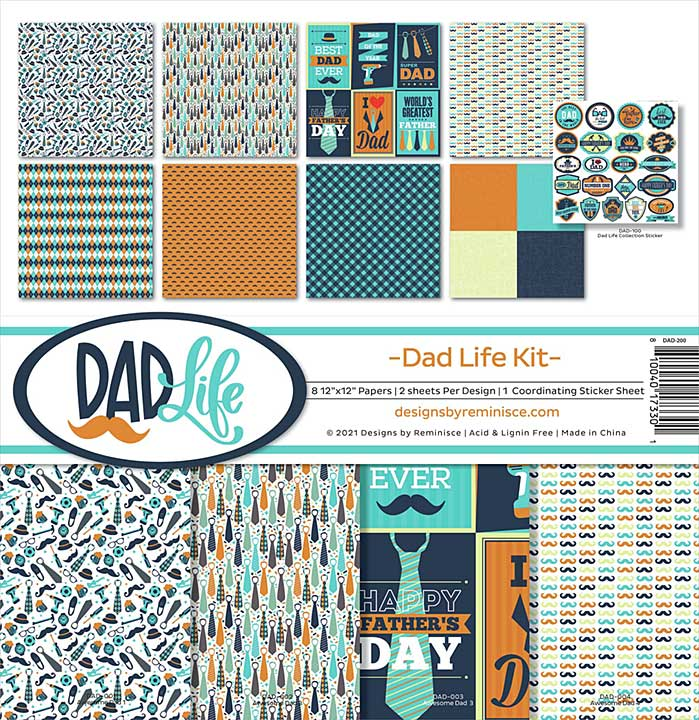 """Reminisce Collection Kit 12\""""X12\"""" - Dad Life"""