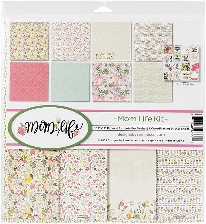"""Reminisce Collection Kit 12\""""X12\"""" - Mom Life"""