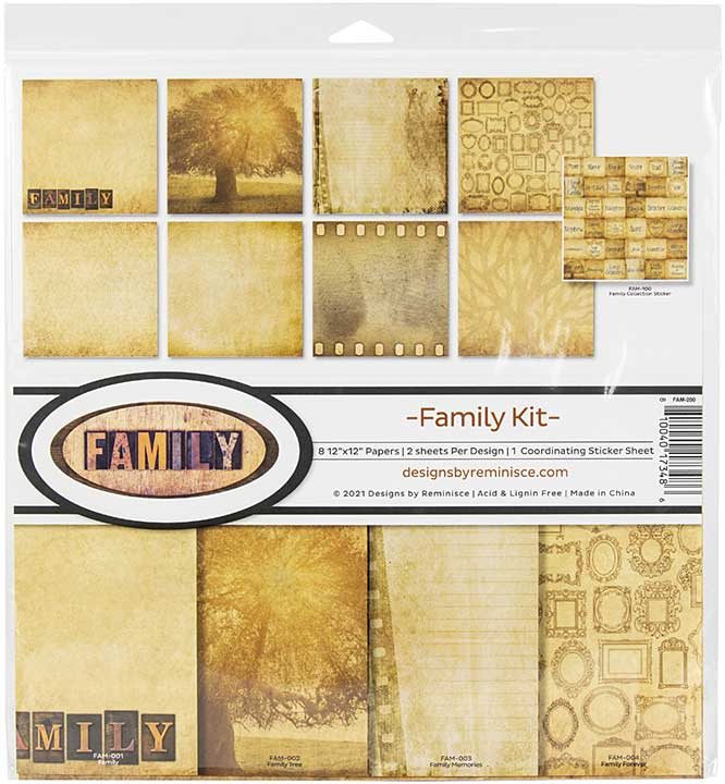 """SO: Reminisce Collection Kit 12\""""X12\"""" - Family"""