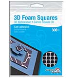 SO: 3D Foam Squares, Black 0.25 inch (126pk) from Scrapbook Adhesives